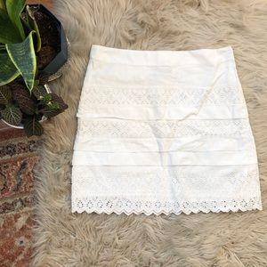 GAP Skirts - Gap White Eyelet Detailed Skirt